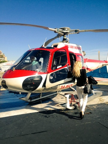 Helicopter Flight over Monaco and its surroundings