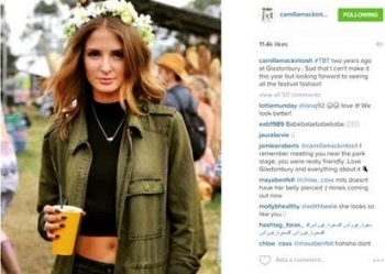 The Artists share their photos on Instagram for the Festival of Glastonbury