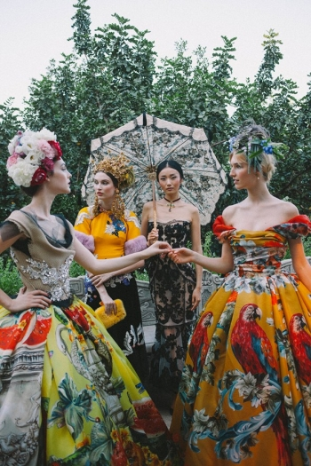 Rhapsody for Dolce & Gabbana Autumn Winter 2015 Couture