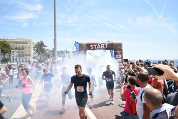 The Mud Day, the urban version on the Promenade des Anglais