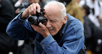 The street style photographer, Bill Cunningham, celebrated at New York Fashion Week