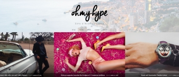 Julia Burg alias @Ohmyhype Launches her Blog about Cote d'Azur Lifestyle