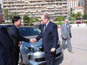 Exposition on the renewable energies and ecological cars in Monaco