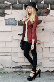 In style trends - Burgundy look