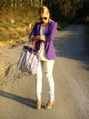 Purple blazer look