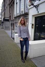 Shimmer grey blouse