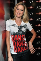 Doutzen Kroes unveils The A|X Armani Exchange Dance4life T-Shirt in Honor of World AIDS Day