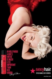 Celebrity hairstyle: Marylin Monroe for a Sexy Hair ad