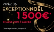 Win 1500 euros every day with Louis Pion