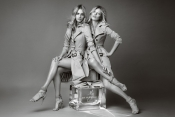 Kate Moss and Cara Delevingne for Burberry fragrance campaign