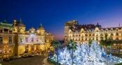 Christmas lights transform the Place du Casino, Monaco