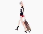 Carry your groceries in style with Louis Vuitton and Christian Louboutin Shopping Trolley
