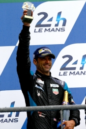 Patrick Dempsey and TAG HEUER on the podium at the 24H of LE MANS