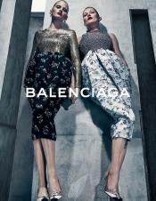 Kate Moss and Lara Stone for Balenciaga Autumn Winter 2015 campaign