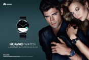 Mario Testino, Karlie Kloss and Sean O'Pry celebrate the launching of Huawei Watch