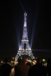 Eiffel Tour in Colors for Paris Fashion Week