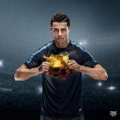 Cristiano Ronaldo, the winner of Ballon d'Or, Ambassador for a luxury watch brand