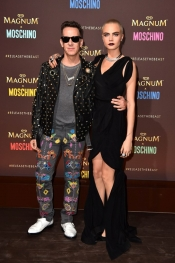 Carla Delevingne and Jeremy Scott from Moschino, together at Cannes