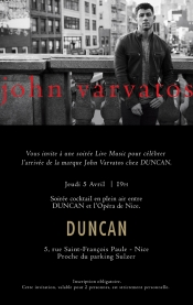 The First French Space dedicated to American Stylist, John Varvatos, in Nice