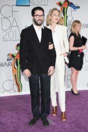 Adam Kimmel & Leelee Sobieski at CFDA 2011