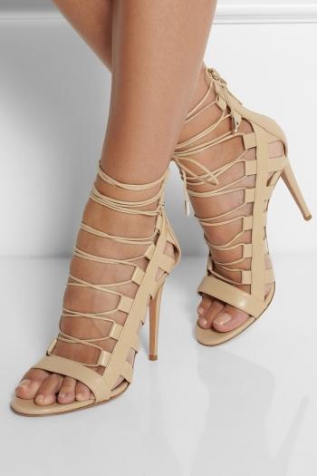 803c2fabdea7da AQUAZZURA Amazon lace-up leather sandals