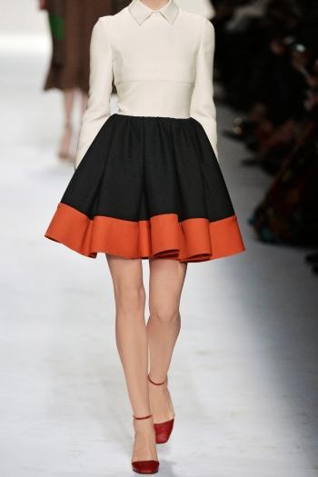 VALENTINO Mini-robe en laine et soie mélangées