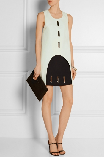 OPENING CEREMONY Two-tone crepe mini dress