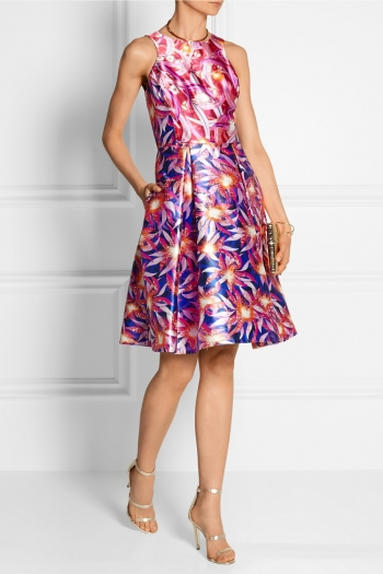 PETER PILOTTO Printed silk-satin dress