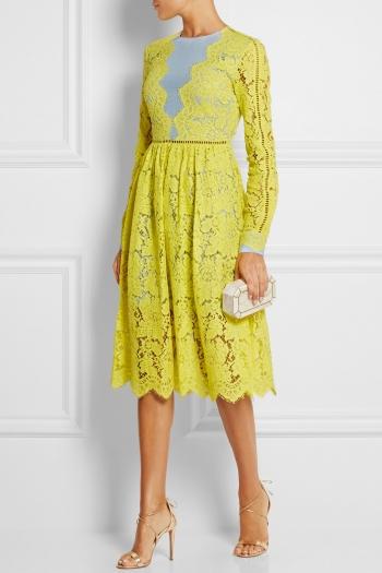 PREEN BY THORNTON BREGAZZI Berwick lace and crepe de chine dress