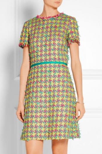 Bouclé Robe En Franges À Boutique Tweed Mini Moschino sQrxdthC