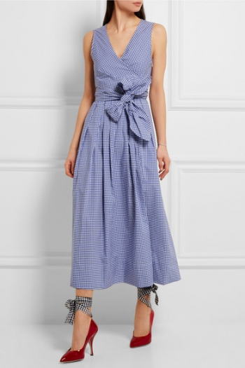 J.CREW Perry gingham cotton-poplin midi dress