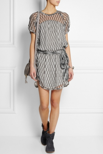 ÉTOILE ISABEL MARANT Zaggy printed silk-chiffon mini dress