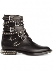 SAINT LAURENT 'Signature Rangers' studded boots