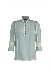 Lace menthe silk top Fendi