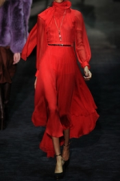 Gucci silk chiffon dress