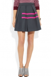 PREEN LINE Spiniker pleated stretch-cotton drill skirt