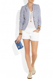 J.CREW Striped linen blazer