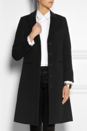 KARL LAGERFELD Odera studded wool-blend felt coat
