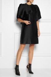MULBERRY Structured wool-blend dress