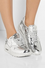 NIKE Air Max metallic leather sneakers