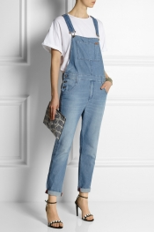 GUCCI Super stonewashed denim overalls