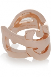 SAINT LAURENT Cassandre rose gold-plated ring