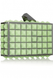 KOTUR Rene glow-in-the-dark studded silicone clutch