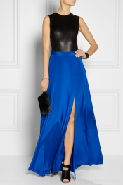 DKNY Stretch-silk crepe de chine maxi skirt