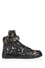 GIVENCHY Tyson high-top sneakers in confetti-print leather