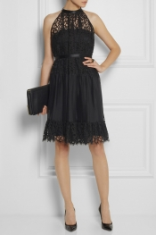 TEMPERLEY LONDON Robe en dentelle et organza Lily
