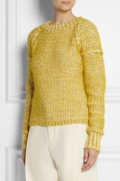 CHLOÉ Chunky-knit cotton-blend sweater