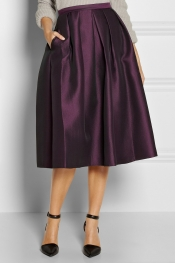 TIBI Simona pleated jacquard skirt