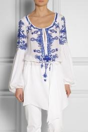 EMILIO PUCCI Embellished silk-crepe tunic