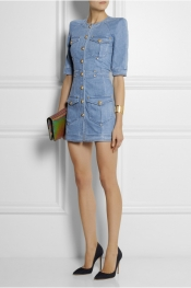 BALMAIN Mini-robe en jean